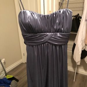 Blue, metallic dress